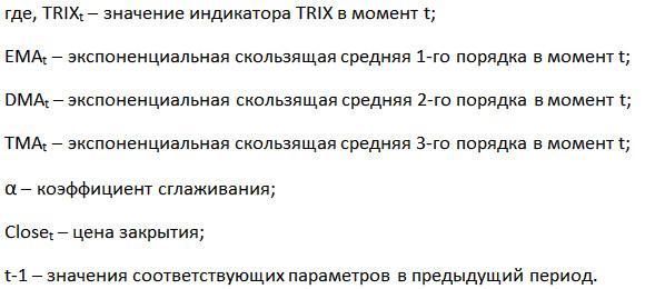 индикатор TRIX расчет3