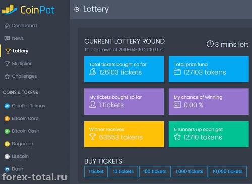 Лотерея CoinPot